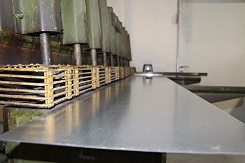 0,50 mm verzinktes Stahlblech Eisen Metall Feinblech Blech DX51 bis 1000 x 1000 mm 100 mm x 100 mm