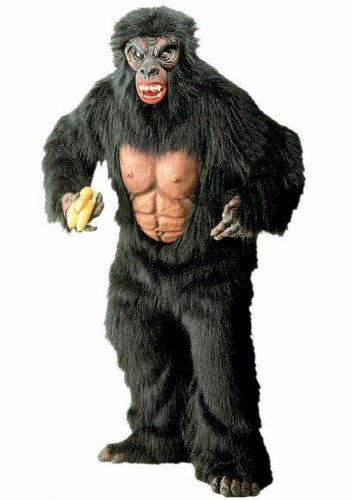 Widmann 4519K - Erwachsenenkostüm Gorilla, Kostüm mit Brustblatt, Hände, Füߟe und Maske