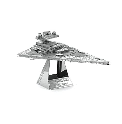 Metal Earth - Fascinations, Star Wars Imperial Star Destroyer 3D metal puzzle, quality laser cut models, v