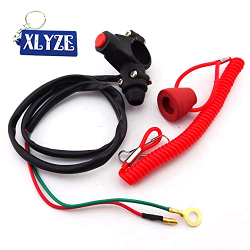 XLYZE Engine Kill Stop Tether Closed Sicherheitsschalter Schalter Schalter für 2 Stunden Pocket Mini Dirt Bike ATV Quad 4 Wheeler TRX