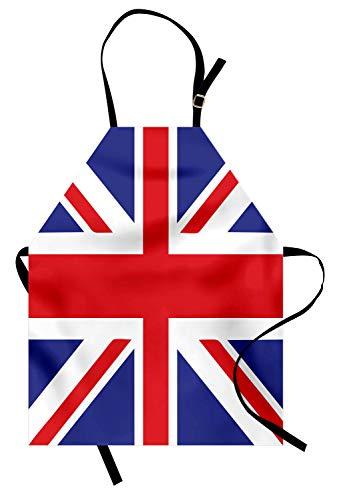 ABAKUHAUS Union Jack Kochschürze, Klassisches traditionelles Flaggen-Großbritannien Modernes Britisches Loyalitäts-Symbol, Maschienenwaschbar Wasserdicht kein Verblassen, Königsblau Weiß Rot (Traditionelle Britische Kostüm)