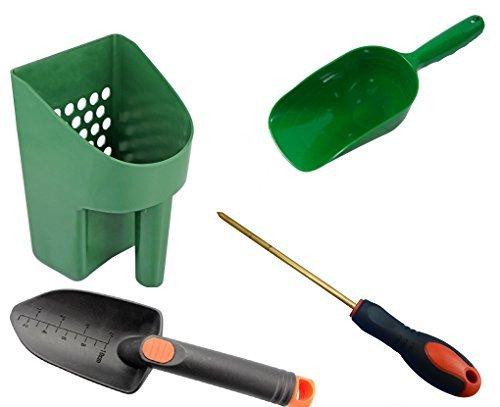 Metal detecting e caccia al tesoro tool kit # 1sand paletta, paletta, super scooper, ottone e sonda