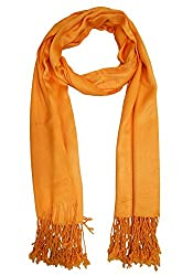 URBAN-TRENDZ Latest Collection of Satin Pashmina Scarf Stole Duppatta Shawl with twisted fringes in Superfine Quality (Summer Colours) UT2332GO