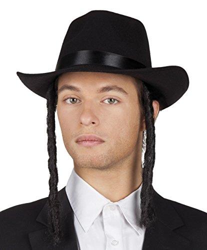Halloweenia - Kostüm Karneval Rabbi Schläfenlocken David, (Rabbi Halloween Kostüme)