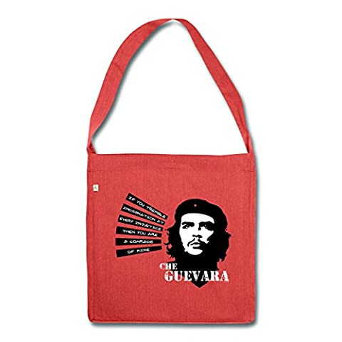 Che Guevara Citation Comrade Of Mine Sac bandoulière 100 % recyclé de Spreadshirt®‎, rouge chiné