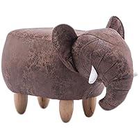 Preisvergleich für DY Hocker Gepolsterter Schemel-Ottoman-Schemel, Kleiner Sitz, Karikatur-Tierhocker, Schuh-Bank, Sofa-Bank, Elefant-Schritt-Schemel, hölzerne 4 Beine, 66 * 34 * 39cm (Farbe : B)