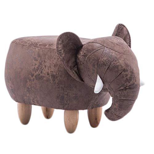 Lcf Taburete de Elefante Taburete de sofá Asiento pequeño, Taburete de Animal de Dibujos Animados, Banco de Zapatos, Banco de sofá, 66 * 34 * 39 cm (Color : Brown)