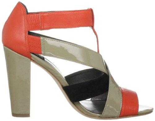 Calvin Klein Ashley, Sandales femme Noir/orange/sable