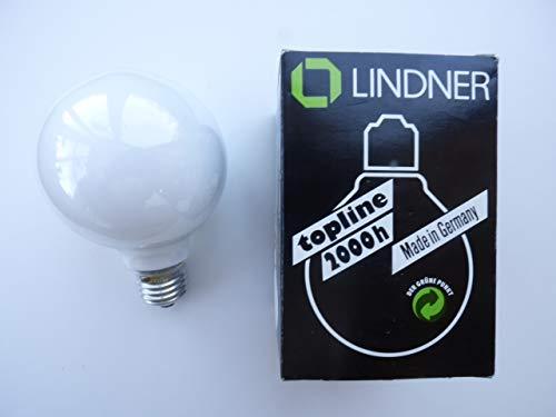 Lindner Globeglühlampe E27, D80mm, 40W, opalweiß, Double Life