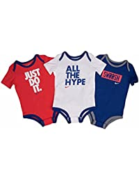 Nike BOYS Infant 3 Pack Body Set, 9-12 Meses, Azul marino