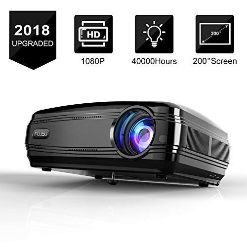 "Video Beamer 3300LM Full HD 5.8"" LCD Videoprojektor 20000: 1 Kontrast 1080P HDMI USB VGA SD Card AV für Office Powerpoint Präsentationen Heimkino Kompatibel mit Fire TV Stick Chromecast Schwarz"