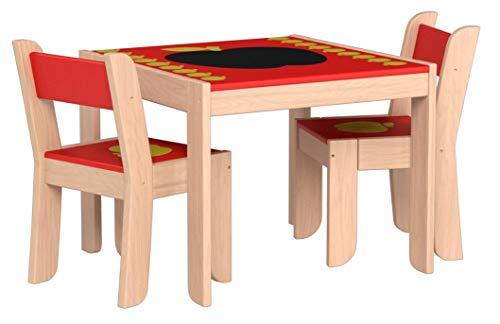 Labebe Silla de mesa multiusos de alta calidad, juego de mesa de madera de dibujos animados para niños Utilizado como juego de mesa de lectura de pintura para niños y niñas de 1 año o más