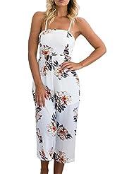 Chilsuessy Femme Combinaison Jumpsuit Pantalons Longs Floral