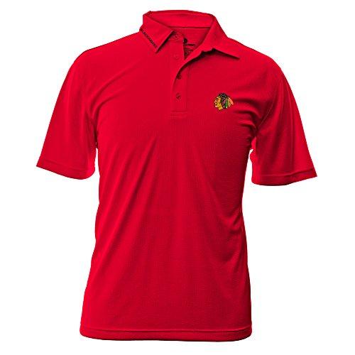 Levelwear NHL Oberfläche Wordmark Polo Shirt, Herren, Surface Wordmark Polo Shirt, Feuerrot, Small