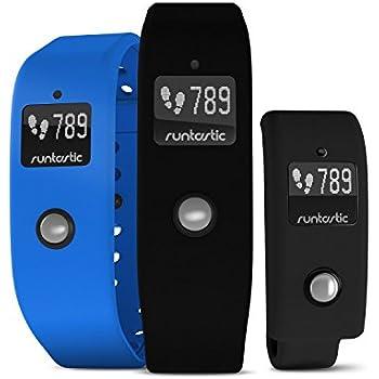 Runtastic Orbit Bracciale Monitoraggio Fitness Attività Fisica e Sonno, con Due Cinturini Intercambiabili, Nero/Blu