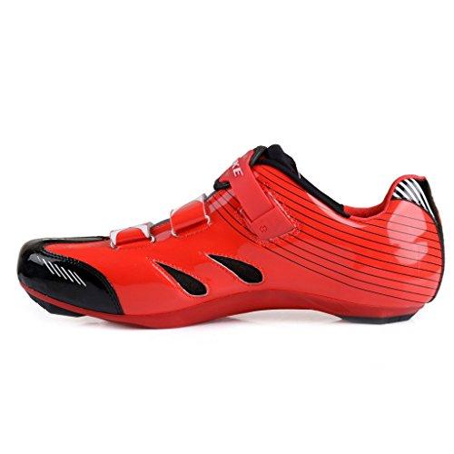 Chaussures vélo de route Homme et Femme chaussure de cyclisme SD002 Rouge - Noir