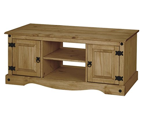 Corona 2 Door Flat Screen TV Unit in Solid Pine