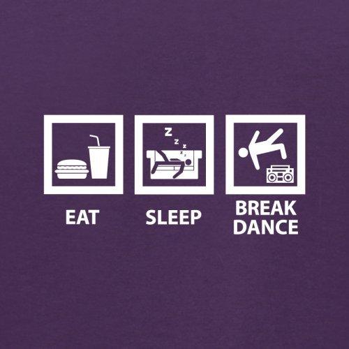 Eat Sleep Breakdance - Herren T-Shirt - 13 Farben Lila
