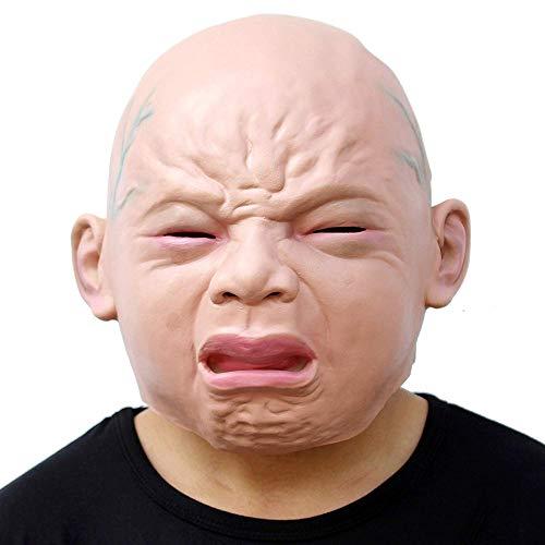 Wansheng Neuheit Halloween Kostüm Party Latex Head Maske Baby Face (Cry Baby)