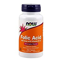 Now Foods Folic Acid 800 mcg With B12 Tablets - 250 Tablets