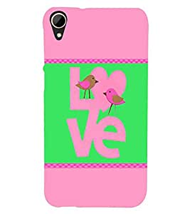 For HTC Desire 828 Dual Sim Birdy Love, birds Printed Cell Phone Cases, love Mobile Phone Cases ( Cell Phone Accessories ), romantic Designer Art Pouch Pouches Covers, green Customized Cases & Covers, nature Smart Phone Covers , Phone Back Case Covers By Cover Dunia