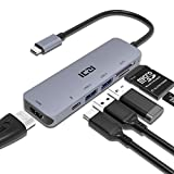 ICZI Hub USB C Adattatore 6 in 1 Type c Alluminio Porta 4K HDMI 2 USB 3.0 SD Micro SD Tipo C Potenza per dell XPS Ssu S9 S9Plus S8 S8Plus Note 8 PC Portatili Windows Altro Dispositivo
