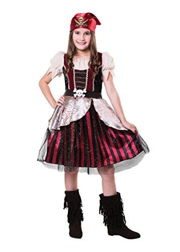 Bristol CF096 - Pirata (aprox. 7 a 9 años), diseño de niña, multicolor, tamaño grande