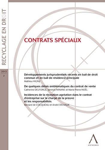 Contrats spéciaux: (Droit belge)