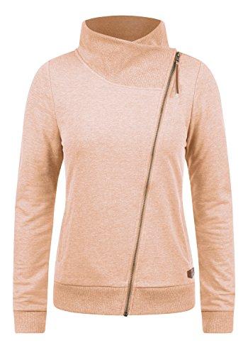 d1547f18d2e3 DESIRES Candy Damen Sweatjacke Jacke Sweatshirtjacke Mit Stehkragen,  Größe S, Farbe Mahog