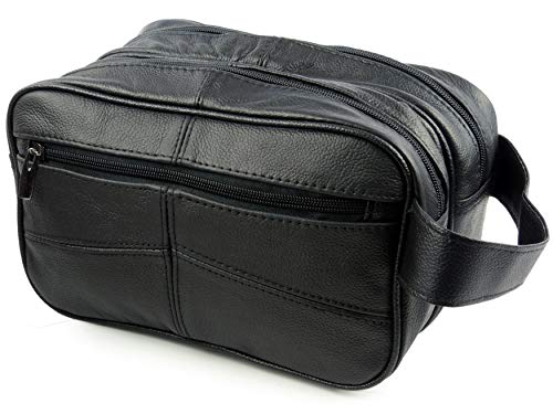 Oakridge Leather, Kulturtasche Schwarz Schwarz Einheitsgröße