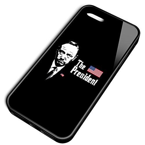 Smartcover Case The President z.B. für Iphone 5 / 5S, Iphone 6 / 6S, Samsung S6 und S6 EDGE mit griffigem Gummirand und coolem Print, Smartphone Hülle:Samsung S6 EDGE weiss Iphone 5 / 5S schwarz