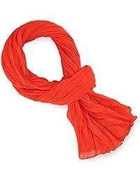 Chèche pur coton Rouge flamme uni