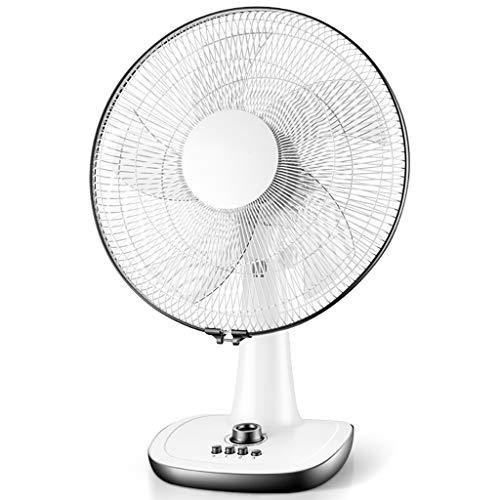 Ventilator/Tischventilator, 5 Klingen / 3 Geschwindigkeiten / 60 Minuten Timing (Weiß, 63 * 30 * 45cm)