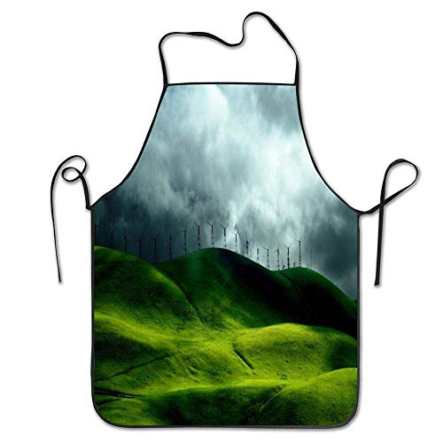 jiilwkie Customized Aprons for Kitchen, Classroom, Community Event, Crafts and Art Painting Activity (Winter Mountains) (Crafts And Arts Winter)