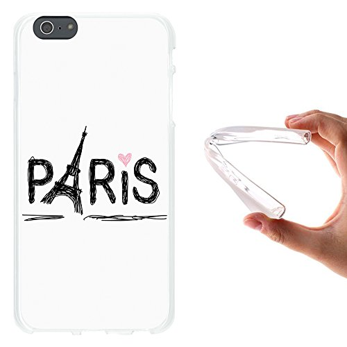WoowCase Hülle Case für { iPhone 6 Plus 6S Plus } Handy Cover Schutzhülle Zuckeriges Skelett mit Make-up Housse Gel iPhone 6 Plus | 6S Plus Transparent D0323