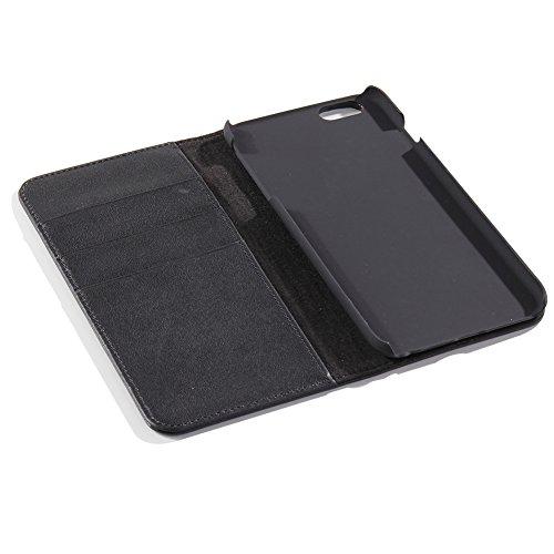 iPhone 6S-6 Leather Case mit Bargeld und Kreditkarten-Speicherplatz-KickStand-Funktion für Hands-einfach zu beantworten Anruf und Close mit Embedded Magnetic Closure System(4.7 zoll)Rot braun Schwarz