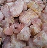Unbekannt Rosenquarz 1 kg - Rohsteine (mehrere Stücke) Aquariumsteine, Brunnensteine, Heilsteine