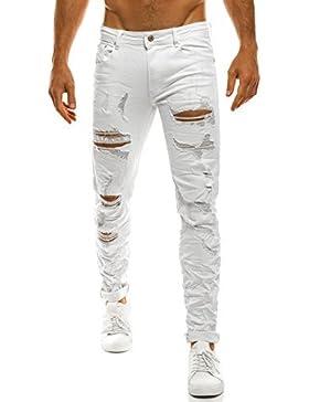 ozonee Pantaloni Uomo Jeans taglio-dritto Pantaloni Casual Abbigliamento da discoteca vestibilità slim BRUNO LEONI...
