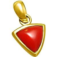 DIVYA Shakti 10,25–10.50Karat Triangle Koralle rot Anhänger/Medaillon (moonga/Munga Stone panchadhatu Anhänger... preisvergleich bei billige-tabletten.eu