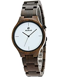Redear Unisex Reloj de madera de arce natural Reloj de negocios casual Relojes de madera hechos a mano Ébano Natural2