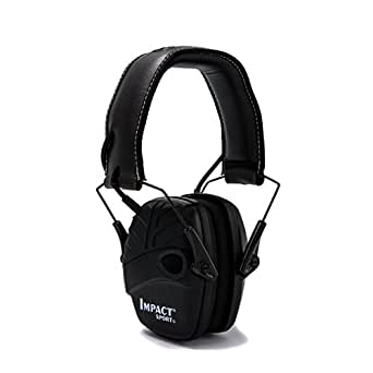 Honeywell 1034490 Howard Leight Casque Antibruit Impact Sport Black, SNR 25