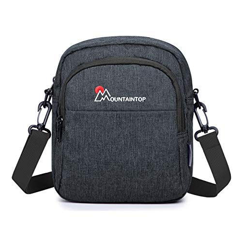 MOUNTAINTOP Umhängetasche Klein Messenger Bag Schultertasche Reise Tasche Daypack für Herren Damen