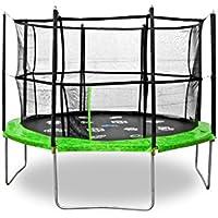 Jumpspirit 12 ft (366 cm) Premium giardino trampolino con rete di sicurezza recinzione, Scala, Trampolino Gioco