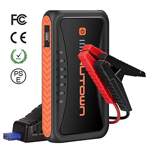 AUTOWN Auto Starthilfe mit Powerbank, Starthilfe Booster 10000mAh 500A Spitzenstrom, Autostarter für Autobatterie mit 12V Ausgang