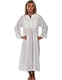 pourThe 1 for U 100% Coton Manches Longues vintage modèle Nightgown