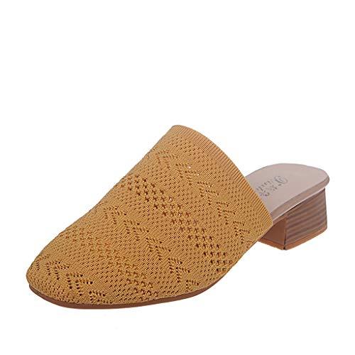 Mitlfuny Damen Sommer Sandalen Bohemian Flach Sandaletten Sommer Strand Schuhe,Frauen Sandalen Hausschuhe Sommer Dick Faul Schuhe Freizeitschuhe Strandspaziergang Schuhe (Pump Madden-strap Steve)