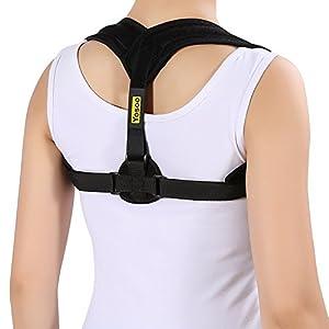 Posture Correcteur d'Épaule Clavicule Cou Support Posturale Therapie pour Soulager la douleur et Régler le Corps par Yosoo Noir