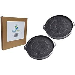 AquaHouse CHF02F Lot de 2 filtres à charbon pour hotte FAR, Fagor, Faure et diverses marques de filtres pour hotte 210 mm