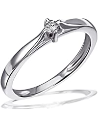 Goldmaid - Bague - Argent 925 - Diamant 0.07 carats - T58 - Sd R3928S58