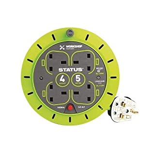 Status S5M13ACR - 13 A 4 Socket Cassette Reel with Thermal Out (Green)